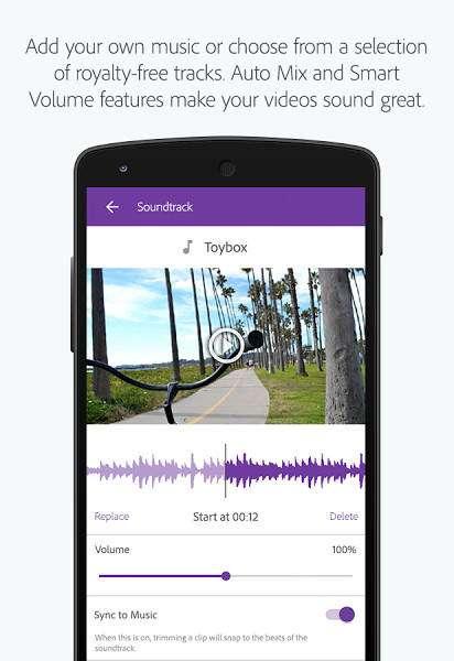 Adobe Premiere Clip video editor for Android%20(1) - 5 اپلیکیشن برتر برای ویرایش ویدئو