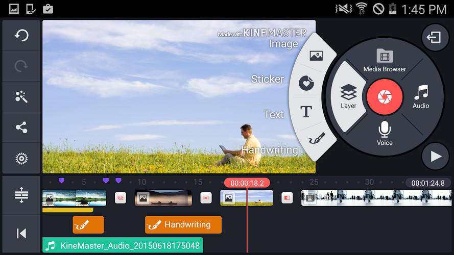 KineMaster video editing app for Android - 5 اپلیکیشن برتر برای ویرایش ویدئو