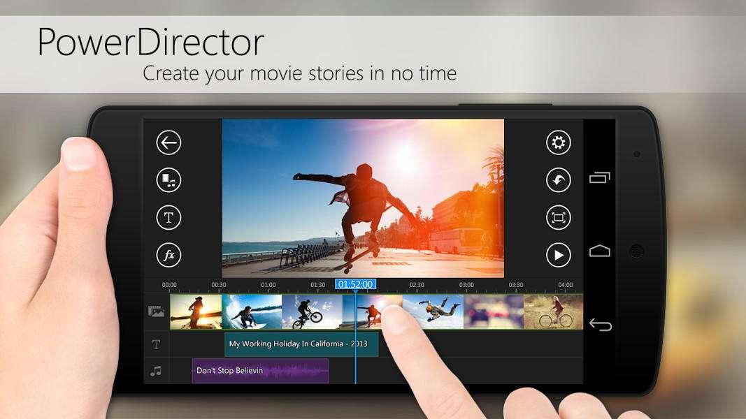 PowerDirector video editor for Android - 5 اپلیکیشن برتر برای ویرایش ویدئو