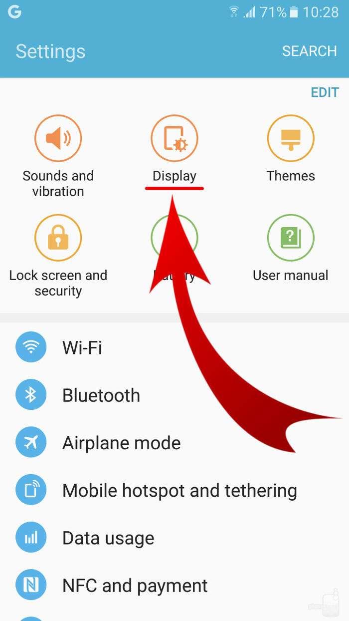 Step 1 - چگونه رنگ نمایشگر گوشیهای سامسونگ را طبیعیتر کنیم؟