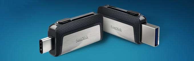 سن دیسک از فلشهای پرسرعت مجهز به USB-C رونمایی کرد