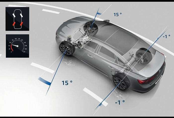 رنو میگوید تالیسمان تنها خودروی D-segment جهان است که سیستم فرمانپذیری هرچهار چرخ، موسوم به 4Control، دارد. این آپشن فقط در کره جنوبی ناموجود است. تالیسمان 10 رنگ بدنه دارد. رینگهای آن هم از 16 تا 19 اینچ متغیرند.