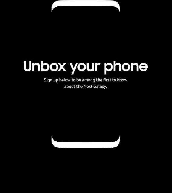 صفحه ثبتنام پیشفروش Galaxy S8 به طراحی این گوشی اشاره میکند