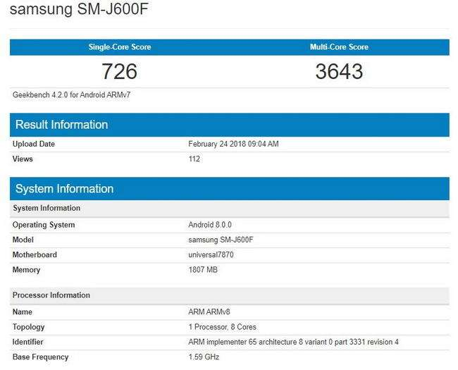 سامسونگ j8 میان رده Galaxy J6 سامسونگ با اندروید 8.0 اوریو در راه است