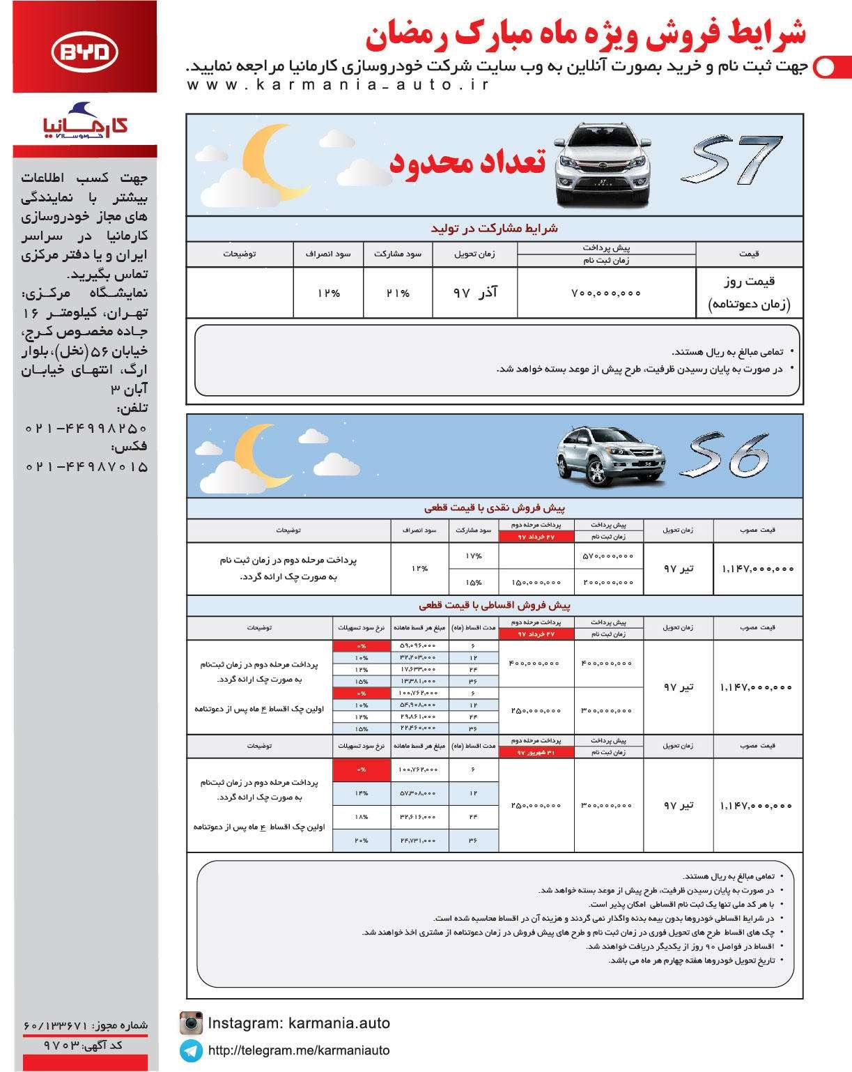 شرایط فروش کارمانیا (ویژه ماه رمضان)