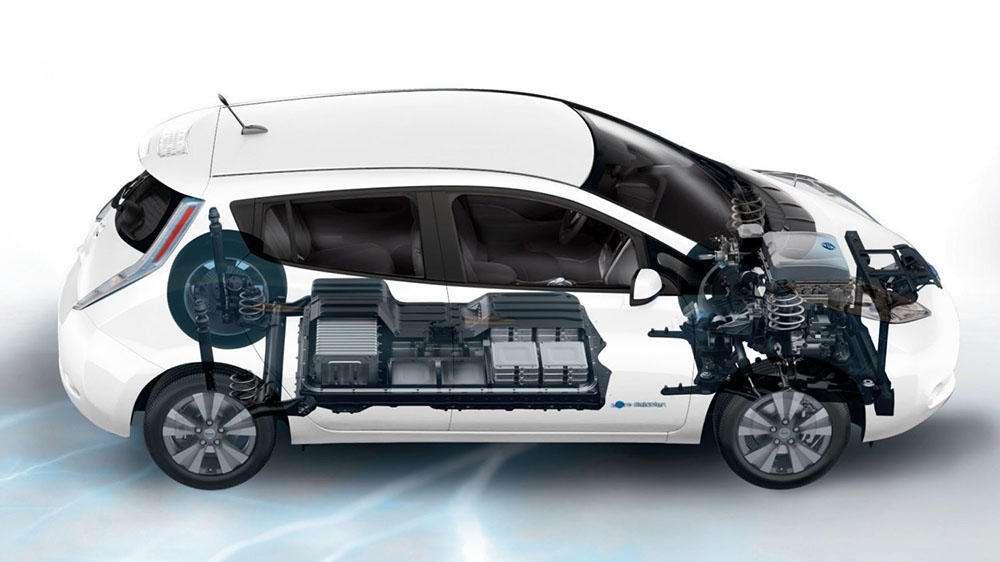 محل جایگیری باتری در خودرو برقی نیسان مدل Leaf